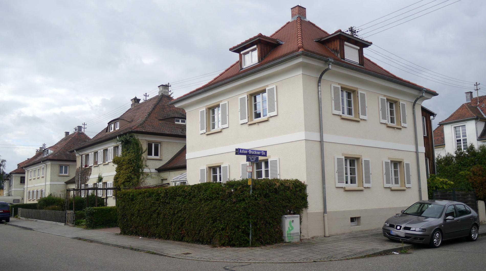 Karlsruhe: Kulturdenkmal Anton-Bruckner-Straße / Dornwaldstraße / Johann-Strauß-Straße